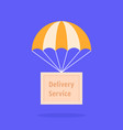 parachute with wooden box vector image