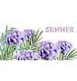 purple roses summer background watercolor vector image vector image