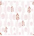 red folk leaves on white background seameless vector image vector image