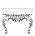 Rich Baroque Table vector image vector image