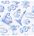 Seamless pattern with Sea Adventure elements in vector image