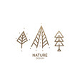 set nature logo vector image vector image