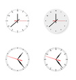Set of 4 modern watches black round dials on white vector image