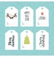 Set of Christmas and New year tags vector image