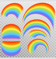 set of realistic colorful rainbow eps 10 vector image