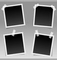 set realistic square photo frames with shadow vector image vector image