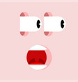 shock face panic man mental joltand fear vector image vector image