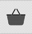shopping basket icon on transparent background vector image