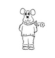 sketchy doodle dog outlined cartoon vector image