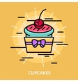 Sweets Cupcakes Poster vector image vector image