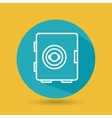 symbol of safe box blue isolated icon design vector image vector image