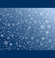 texture of white snowflakes on a blue background vector image vector image
