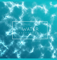 the water surface sea river or ocean vector image vector image
