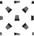 thimble pattern seamless black vector image vector image
