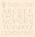 thin line alphabet vector image