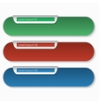 Three bookmarks vector image vector image