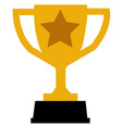 trophy icon on gray background flat style trophy vector image vector image