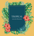tropical wreath swirl design summer with plants vector image vector image
