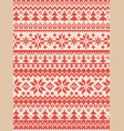 ugly sweater merry christmas new year knitted vector image vector image