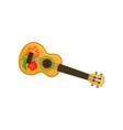 ukulele hawaian national musical instrument vector image vector image