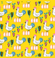 village farm cartoon seamless pattern vector image vector image