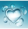 water drop heart next vector image vector image
