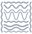 wavy borders of greek ornament meander vector image