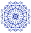 White and blue plate vector | Price: 1 Credit (USD $1)