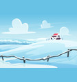 winter landscape cartoon vector image vector image