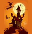 haunted house on night background with a full vector image