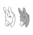 cute draw donkey vector image