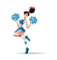 Dancing Cheerleader Girl vector image