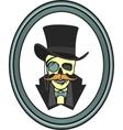 skull gentleman in the cylinder vector image
