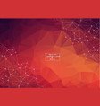 abstract polygonal space dark background with red vector image