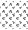 atom pattern seamless vector image vector image