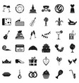 banquet icons set simple style