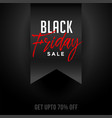 black friday festival sale and offer background vector image vector image