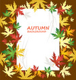 blank paper on autumn background vector image