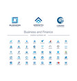 business and finance creative symbols set global vector image