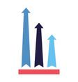 business financial arrows vector image