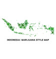 cannabis mosaic indonesia map vector image