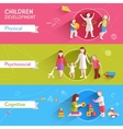 Children Banner Set vector image vector image