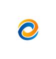 circle abstract technology balance business logo vector image vector image