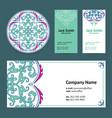 corporative business cards design set