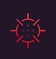 crosshair icon symbol vector image vector image