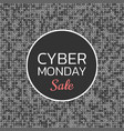 cyber monday sale background banner template vector image