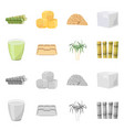 design industry and sugarcane sign vector image vector image
