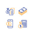 dollar phone payment and accounting wealth icons vector image
