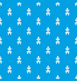 eco house pattern seamless blue vector image vector image