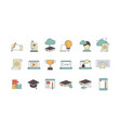 education online symbols special learning courses vector image